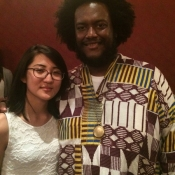 Karen with Kamasi Washington