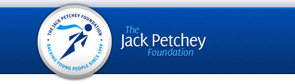 Jack Petchey blue banner