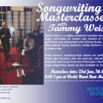 Tammy Weis songwriting masterclasses at world heart beat music academy in London