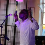 British Jazz vocalist, Cleveland Watkiss performing at live at World Heart Beat Music Academy