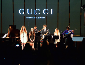 gucci scholars live performance at Gucci Timepieces & Jewelery