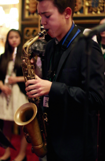 saxophone player from world heart beat music academy