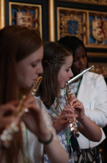 Flute music,young musicians from world heart beat music academy