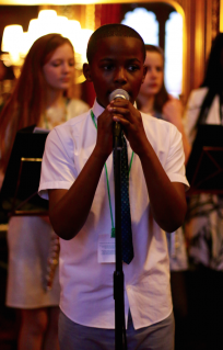 the young singer,male vocalist from world heart beat music academy academy in london