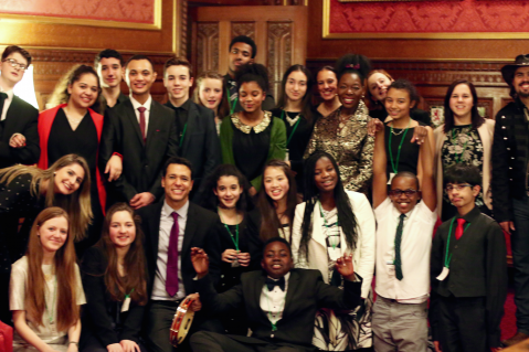young musicians from world heart beat music academy performance at speakers house in london