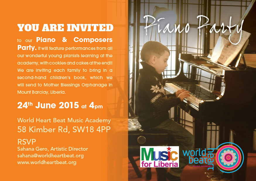 young pianists piano party at world heart beat music academy in London