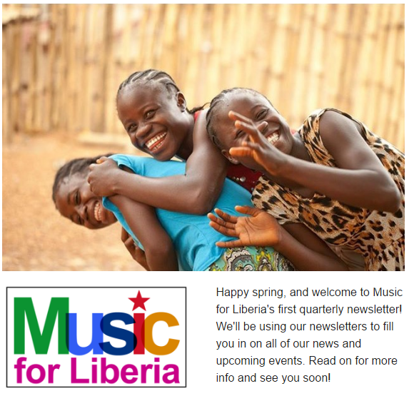 music for liberia newsletter