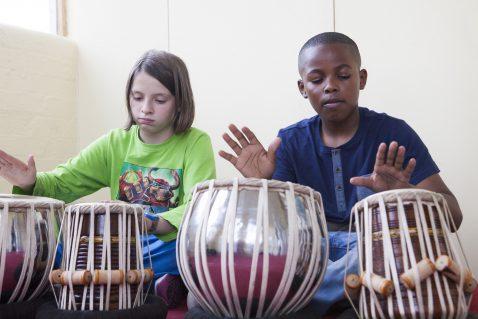 Children enjoying Tabla Lessons in Wandsworth, SW London