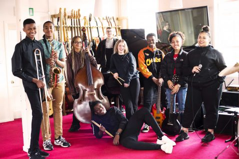 Young musicians enjoying the world heart beat music academy